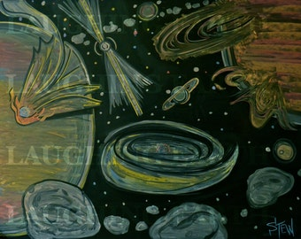 Chalkboard Universe illustration