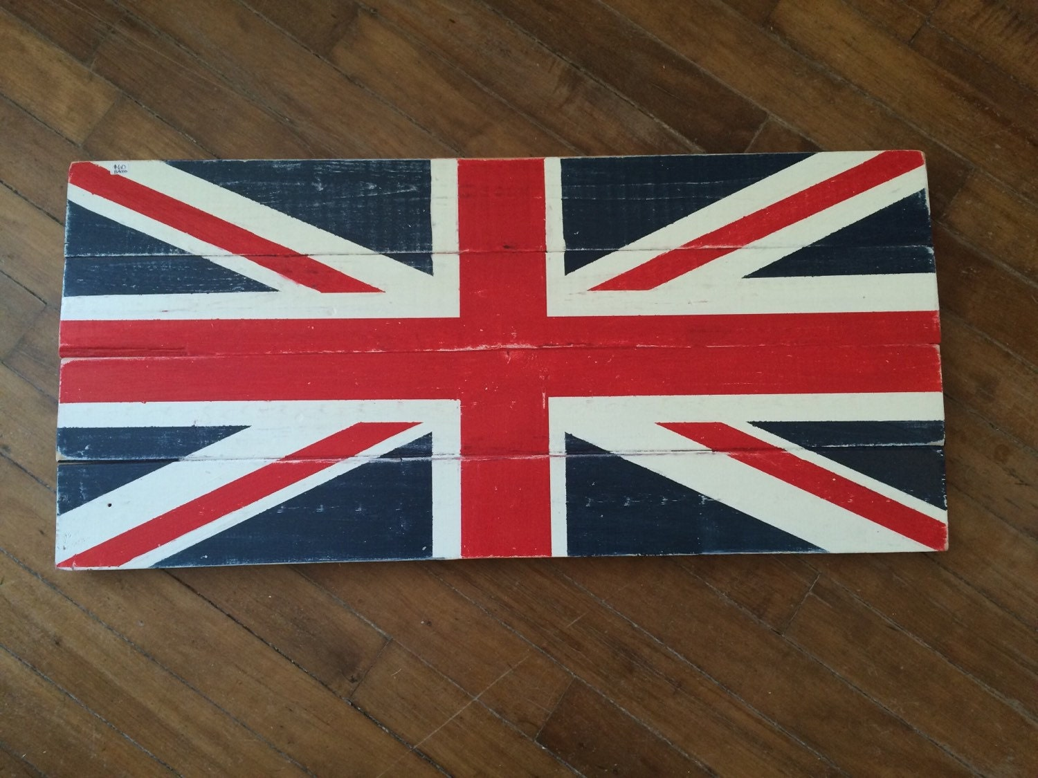 Union jack sign home decor british flag by anchorandcompany for Decoration murale union jack