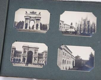 Vintage Italian photos album, Milan, Turin, Genoa, 1933, 1934, 1935, good condition, Italy, Europe, clean  and attractive