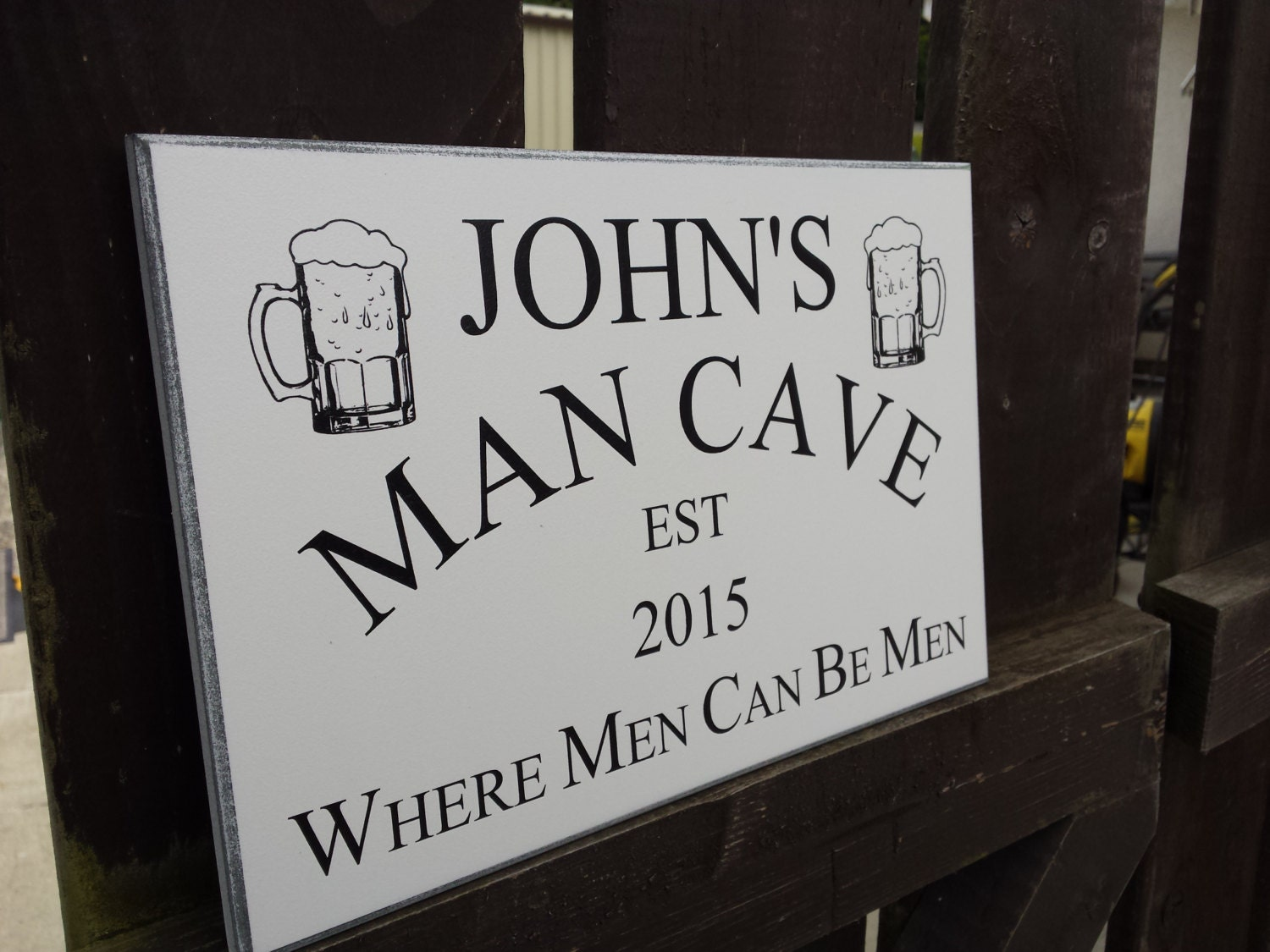 Man Cave Gifts For Him : Personalised man cave sign gift for him dads shed
