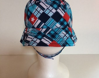 Plaid Bucket Hat Sun Hat - Toddler