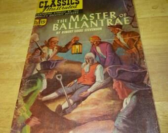 Classics Illustrated #82 The Master of Ballantrae by Robert Louis Stevenson