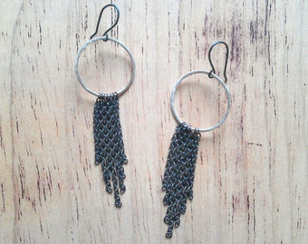 Dangle earrings/ contemporary jewelry/ minimalist jewelry/ eco friendly jewelry/ fun earrings/ kinetic earrings