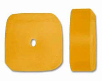Resin Square Slice - Lemon - 12mm Irregular - 30 pieces