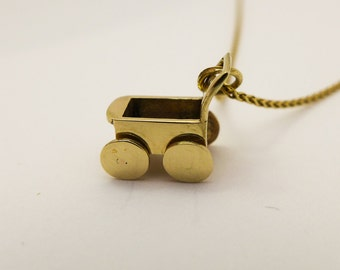 14 karat gold pendant necklace, Delicate gold necklace for women, Charm pendant, Everyday necklace, Mothers day, Minimalist gold jewelry