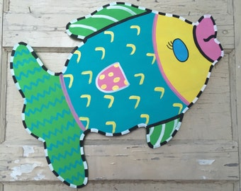 Funky and Colorful Fish Door Hanger