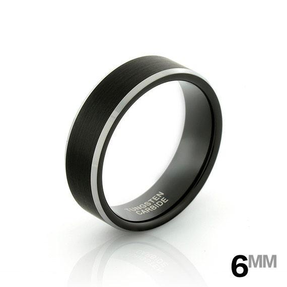Black Tungsten Wedding Band Black Tungsten Ring Men s