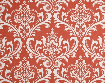 Coral  Valance. Coral Damask Valance. Valance Curtain. Coral valance