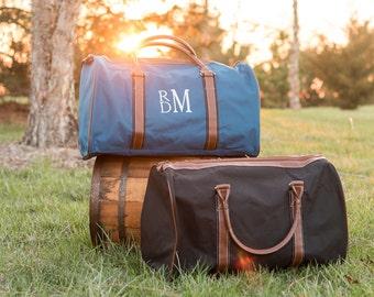 Men's Monogrammed Weekender Bag