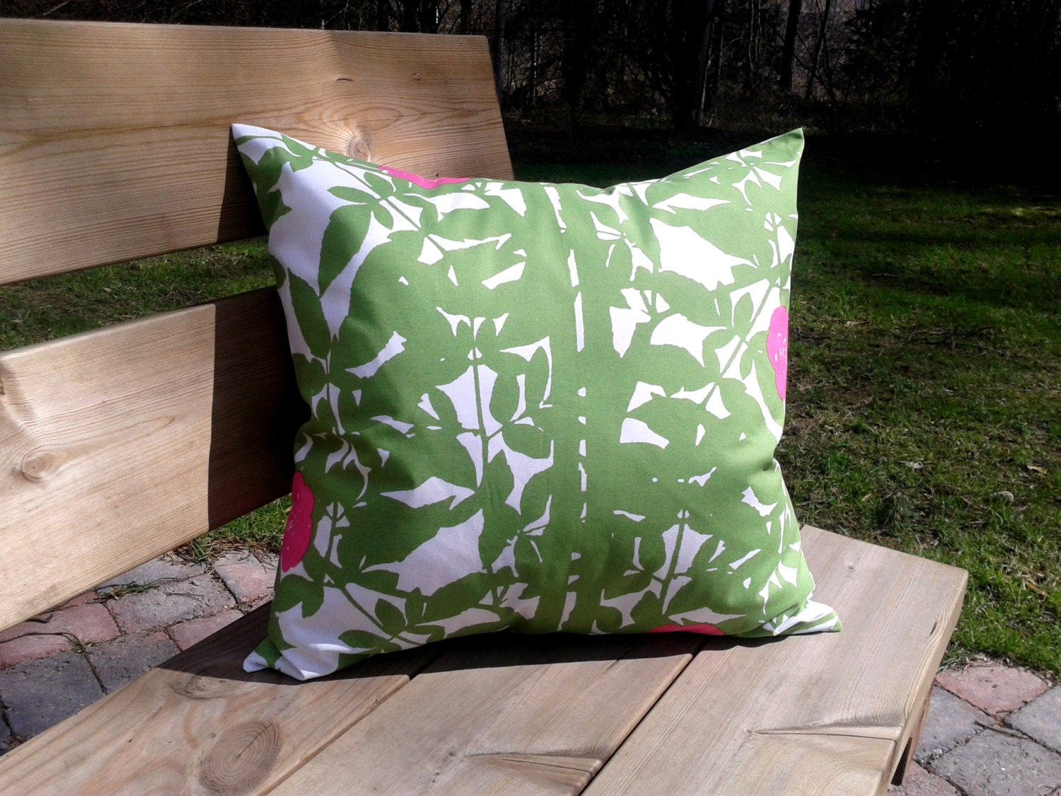 18 inch pillow cover from Marimekko fabric floral pillow case