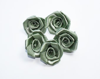 Olive Green Miniature Roses, Evening Dresses Design, Artificial Flowers Miniature Satin Roses