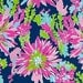 """Lilly Pulitzer Fabric Trippin and Sippin 14"""" x 22"""" or Yard"""