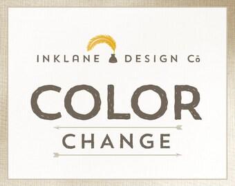 Custom Color Change for ANY Print or Printable
