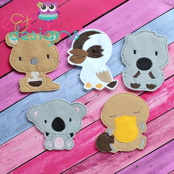 Items similar to australian animal finger puppet set