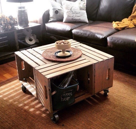 Belle Wood Wine Crate Coffee Table With By SugarRiverRestore
