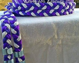 Purple Arrows Riding Set with Reins & Polos