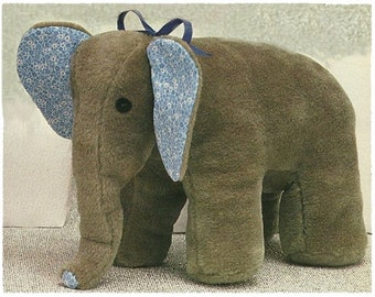Vintage Elephant Soft Toy Pattern