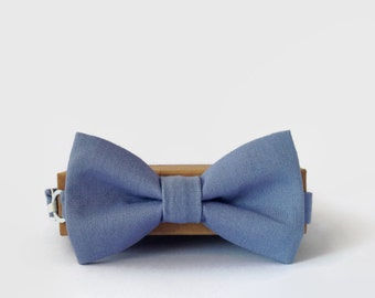 Bow Ties for Boys- Muted Light Blue Little Beau