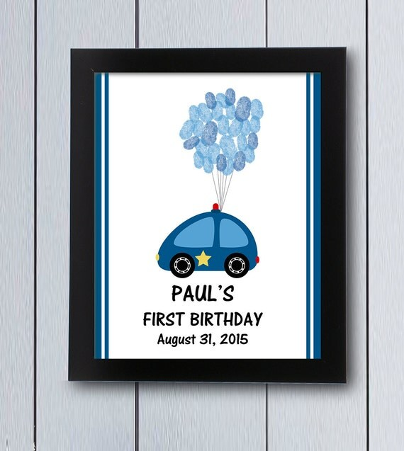 Items Similar To Police Party Guest Book First Birthday