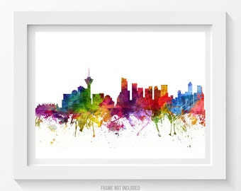 Vancouver Poster, Vancouver Skyline, Vancouver Cityscape, Vancouver Print, Vancouver Art, Vancouver Decor, Home Decor, Gift Idea 06