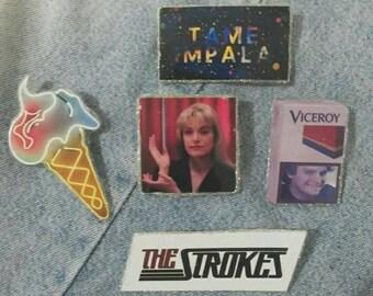 Twin Peaks, Tame Impala, Blur, The Strokes, Mac DeMarco (Pins) (PICK 1)