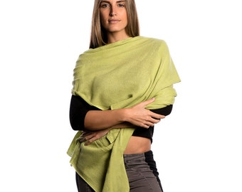 Lime Green Wrap/Lime Green 100% Cashmere Wrap