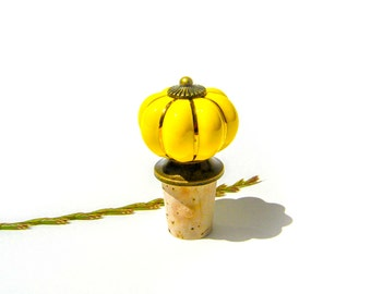 Wine Cork Stopper - Yellow