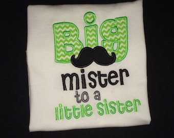 Big Mister to a Little Mister with Mustache shirt