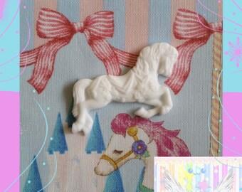 Unpainted Carousel Horse Cabochon
