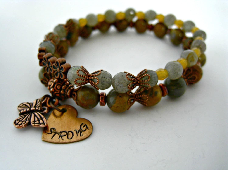 boho stacked bracelets strong bracelets beaded by