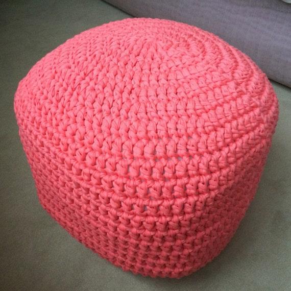 Handmade Crochet Pouf Ottoman Footstool by AshandKay on Etsy
