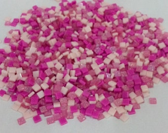 Pink theme mixed colours resin mosaic tiles
