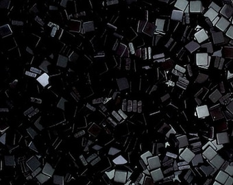 Resin mosaic tiles, Opaque effect, Black