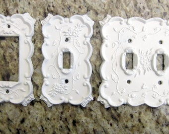 Metal Switch Plates, Rocker Plates Shabby Chic styles in many colors.