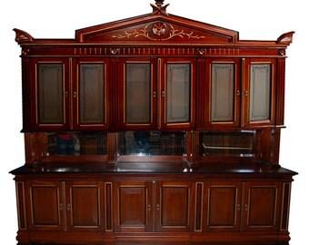 4559 Monumental American Cabinet Walnut Bookcase