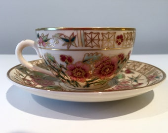 Vintage Zsolnay Pecs Hungary Demitasse Cup & Saucer