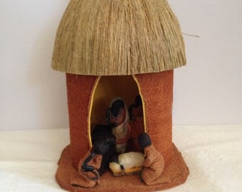 Handcrafted African Nativity