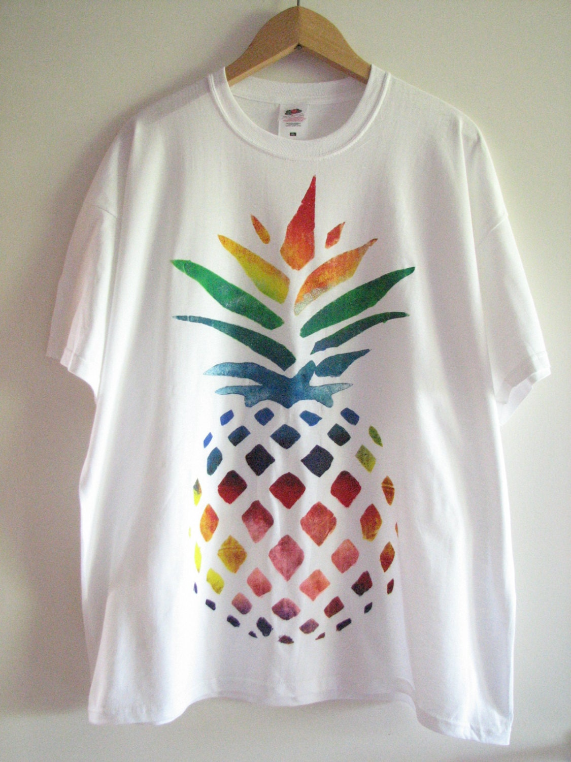 Rainbow pineapple t shirt for How to paint on t shirt