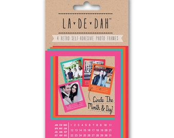 La De Dah Bright Polaroid Photo Frames Self Adhesive Journalling
