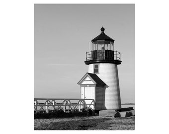 Nantucket Wall Art - Lighthouse Decor / Lighthouse Art - Brant Point Nantucket Art / Lighthouse Wall Art Photograph / Nautical Art