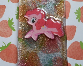 My Little Pony Friendship is Magic Pinkie Pie iPhone 4 / 4s resin glitter hard snap on phone case MLP FIM