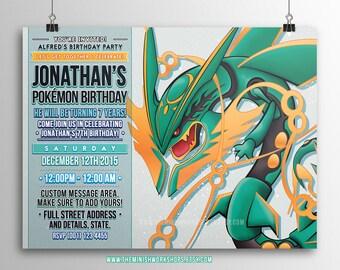 Kids Party Invite, Party Invitation, Pokemon Invitations, Printable Birthday Invitation, Birthday Invite, Invitation, Videogame Invitation