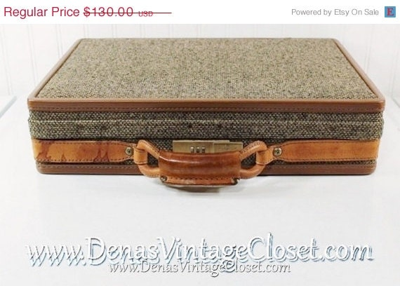 30% OFF Super Summer SALE Retro Vintage Hartmann Tweed Briefcase Attache Case