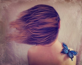 Always here with me fine art print photography butterfly wall art surreal