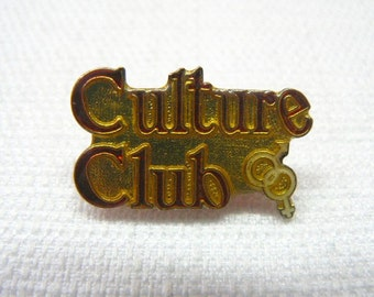 Vintage Early 80s Culture Club / Boy George - Male and Female Logo Enamel Pin / Button / Badge