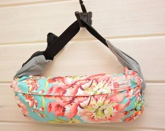 Baby Carrier Cover (Reversible) Bliss Bouquet Teal/ Love Sunspots Tangerine (Bliss Bouquet) Tula/Ergo/Kinderpack/Beco/Boba/Lillebaby
