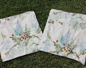 Vintage Fabric Unfinished Floral Cushion Covers