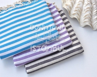 Striped Towel Womens Summer Dress Telo Bagno Cotton Gift Floursack Towel Turkish Hammam Toalla Playera Men Towels Gym Towel New