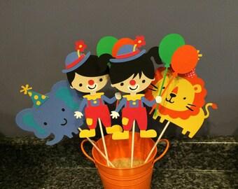 4 Piece Boy and Girl Circus Centerpiece