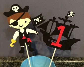 Two piece Pirate Centerpiece